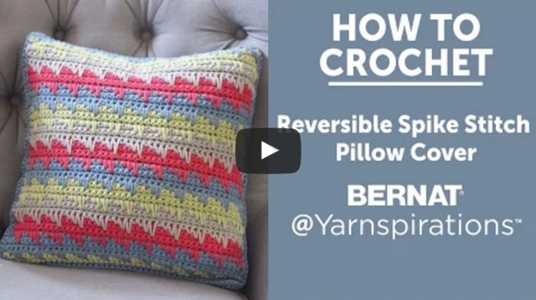 Crochet a Pillow Using the Spike Stitch