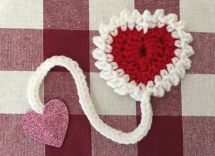 Free Crochet Heart Bookmark Pattern